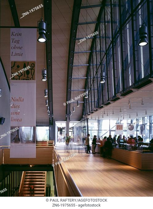 ZENTRUM PAUL KLEE, BERN, SWITZERLAND, RENZO PIANO BUILDING WORKSHOP, INTERIOR, BOOKSHOP