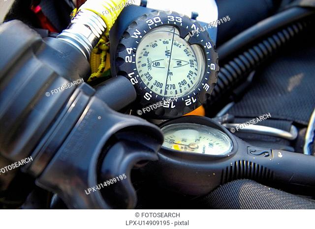 meter, scuba diving, gauge, scuba gear, scuba, equipment, oxygen