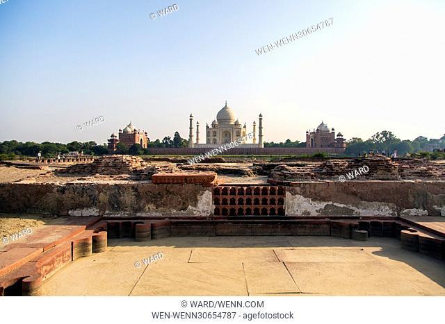 The Taj Mahal in Agra, India Featuring: Taj Mahal Where: India When: 10 Oct 2014 Credit: Ward/WENN.com