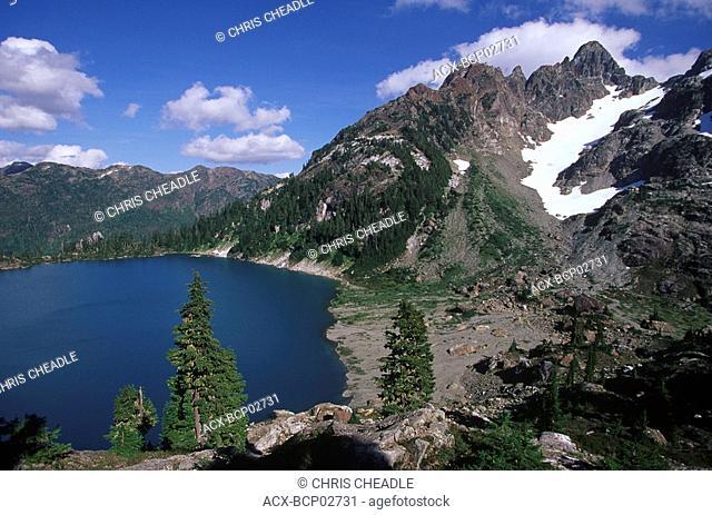 Strathcona Provincial Park, Cream Lake with Mt  Septimus, Vancouver Island, British Columbia, Canada