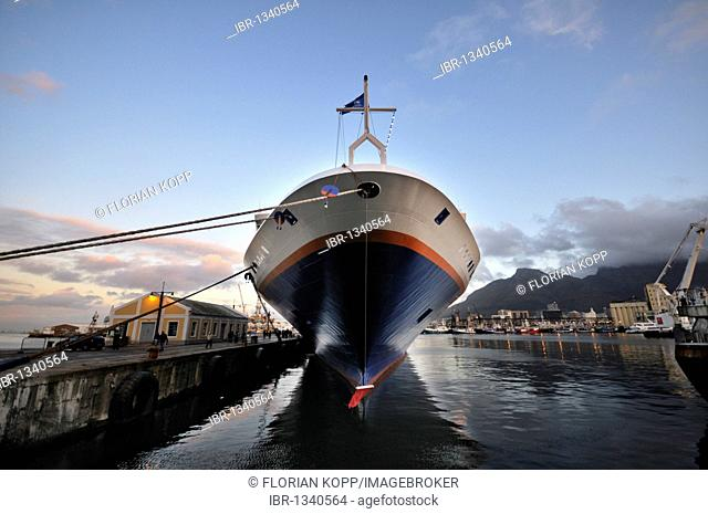 Cruise ship moored at the Waterfront, Waterkant district, Cape Town, South Africa, Africa