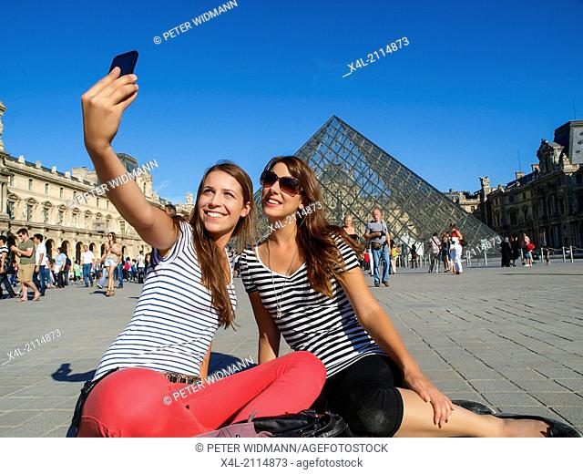 young beautiful women in Paris, France, Paris (model-released)