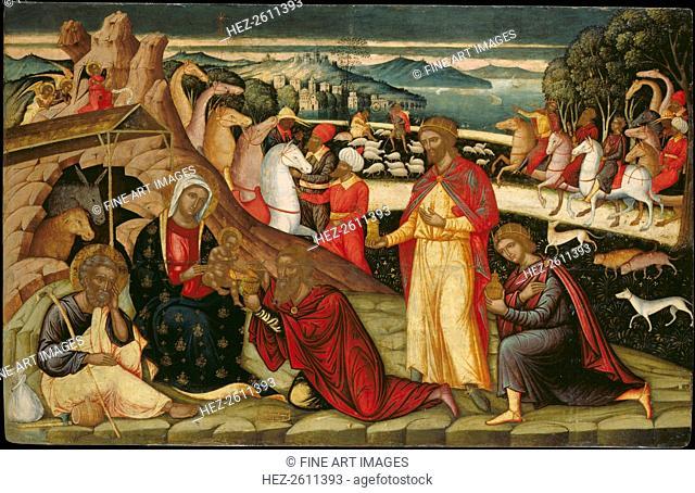 The Adoration of the Magi, c. 1525. Artist: Permeniatis, Ioannis (1501-1550)