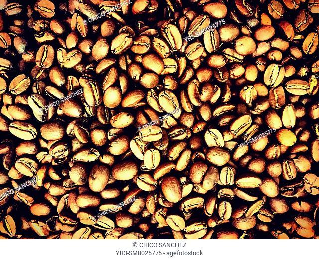 Coffe grains for sale in Oaxaca, Mexico