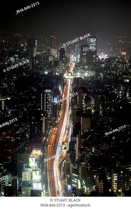 Night view of Tokyo from Tokyo City View observation deck, Roppongi Hills, Tokyo, Japan, Asia