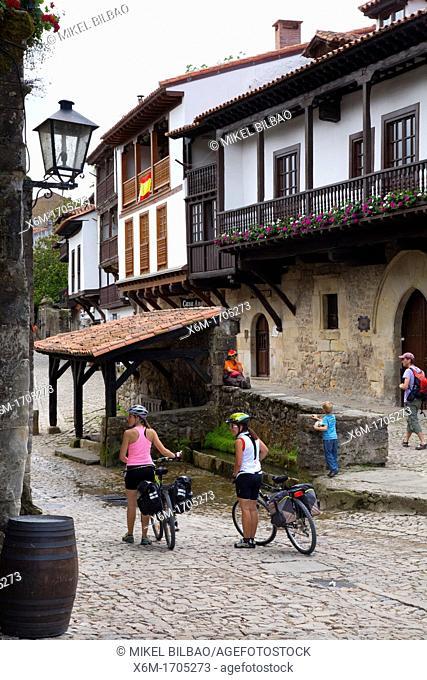 Canton street  Santillana del Mar village  Cantabria, Spain