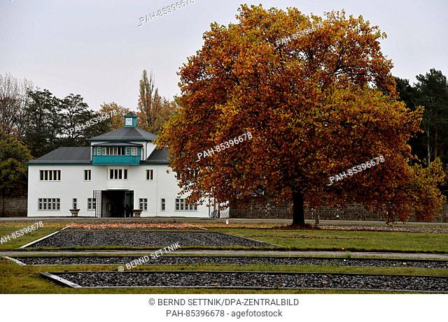 View of the former concentration camp Sachsenhausen in Oranienburg, Germany, 4 November 2016. The special exhibition opening on Sunday remembers the homicide of...