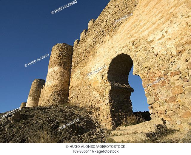 Main gate of the castle of Clavijo. La Rioja, Spain
