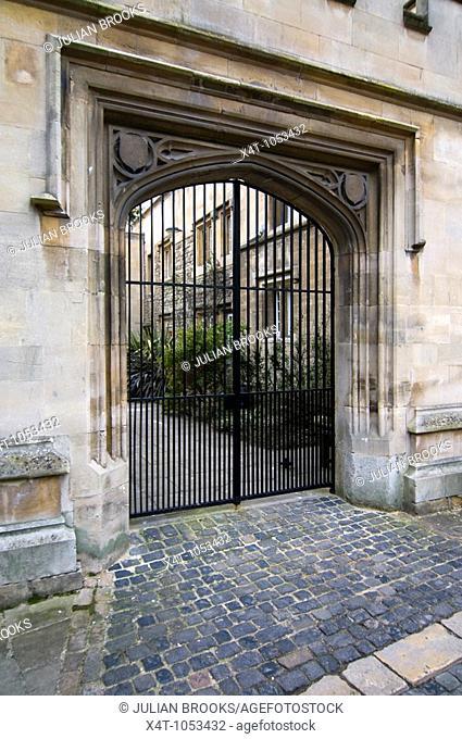 Gate into Pembroke College Oxford
