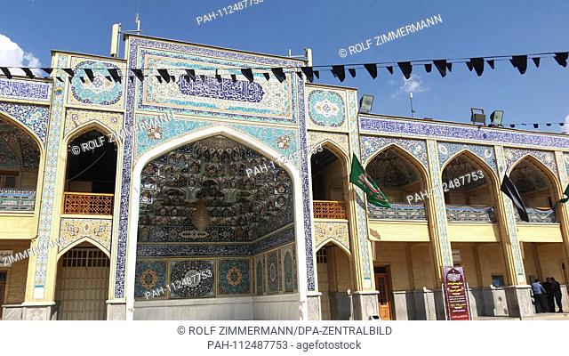 Iran - Shiraz, capital of the central southern province of Fars, the Shah-Cheragh sanctuary can only be visited with an official guide. Taken on 20.10