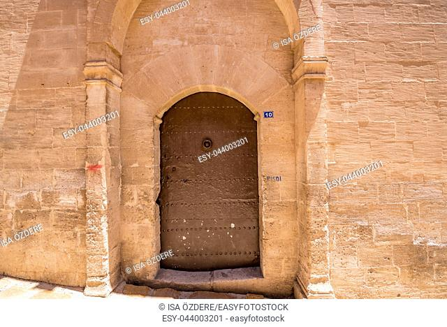 Door of Mor Yusuf (Surp Hovsep;St Joseph) Church which locates in Mardin,Turkey. 18 June 2018