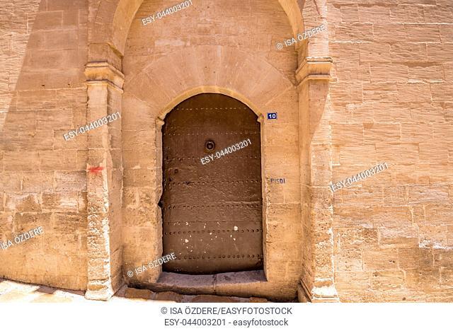 Door of Mor Yusuf (Surp Hovsep;St Joseph) Church which locates in Mardin,Turkey. 18 June 2018