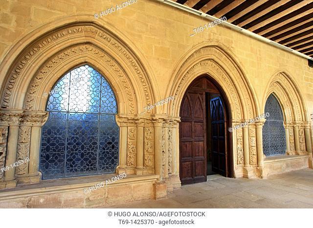 Monastic cloister. Santa María de San Salvador de Cañas. La Rioja. Spain