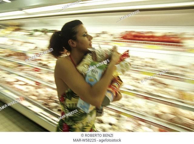 woman supermarket, shopping