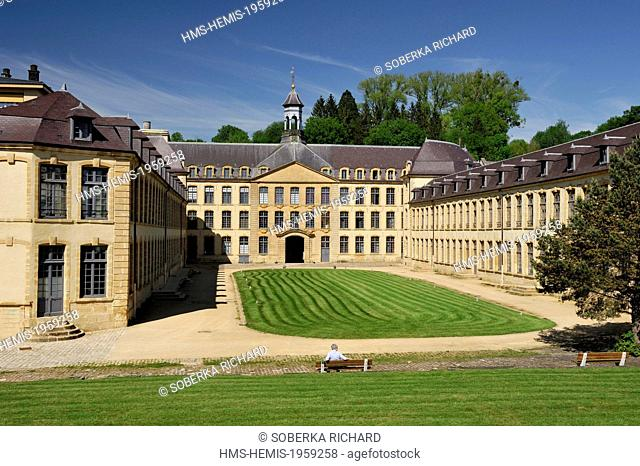 France, Ardennes, Sedan, Factory of Dijonval Old royal manufacture of bed sheets rehabilitated into apartments