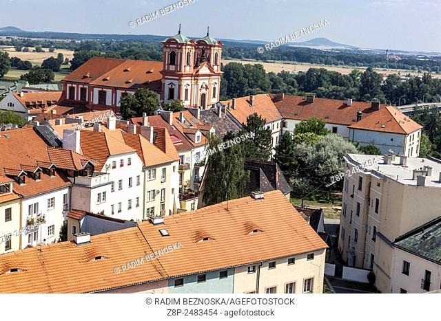 Jesuit church and college, the Annunciation of the Virgin Mary, Litomerice, Northern Bohemia, Czech Republic