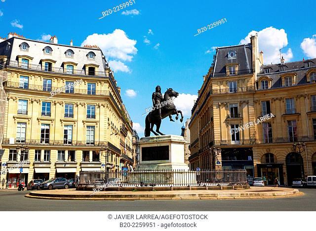 Equestrian statue of King Louis XIV. Place des Victoires. Paris. France