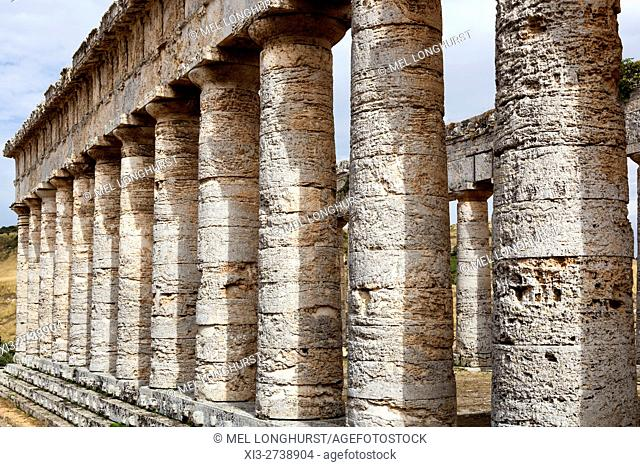 The Doric Temple, Segesta Archaeological Site, Segesta, Province of Trapani, Sicily, Italy