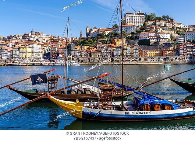 Port Wine Boats, Douro River, Porto, Portugal