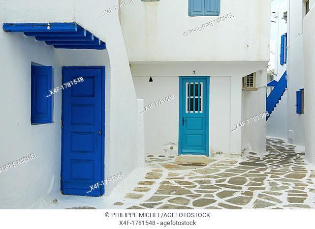 Greece, Cyclades, Mykonos island, Chora, Mykonos town