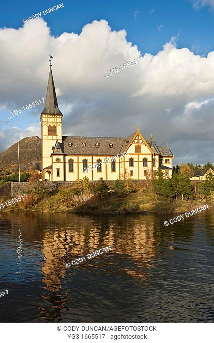 Vågan Church - Lofoten Cathedral, Kabelvåg, Austvågøy, Lofoten Islands, Norway