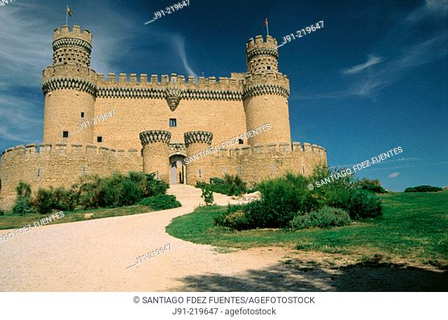 Castle of Manzanares del Real. Madrid province. Spain