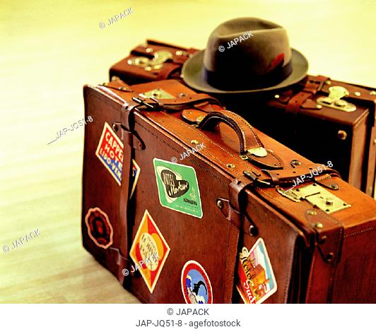 Hat on luggage