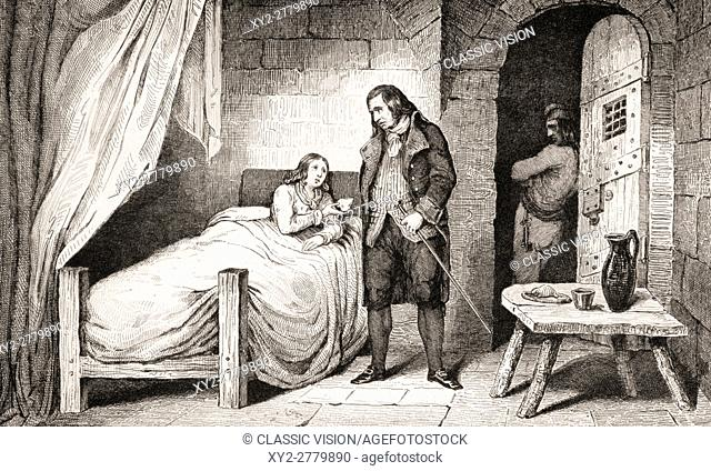 Louis XVII, 1785 To1795, Sick And Imprisoned. From Histoire De France By  Colart