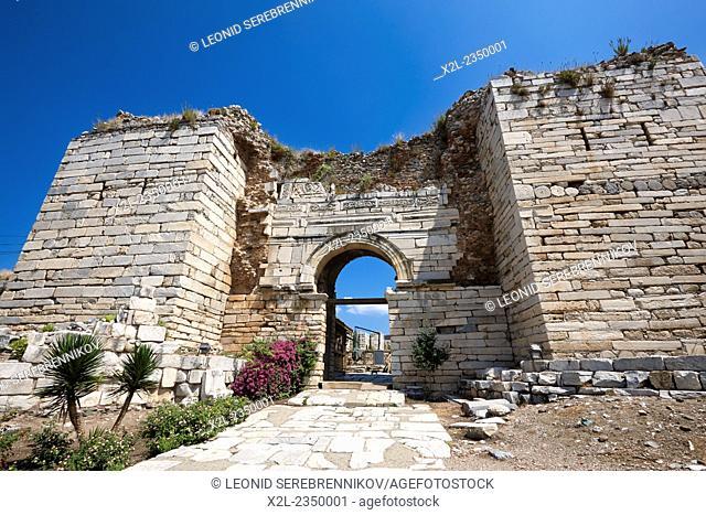 Entance gate to the Basilica of Saint John. Selcuk, Turkey