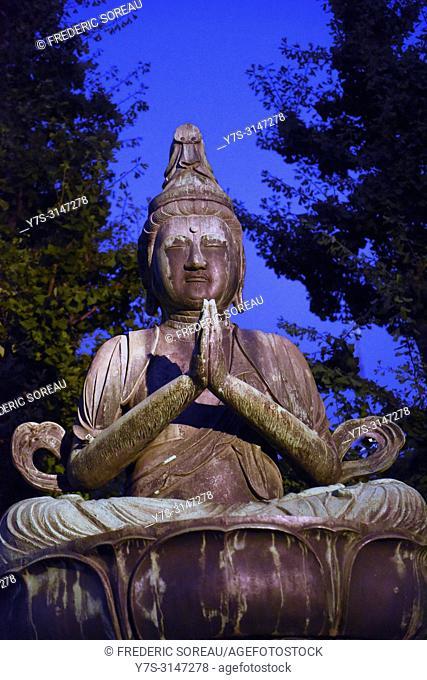 Buddha statue at Senso-ji temple, Asakusa, Tokyo, Japan, Asia