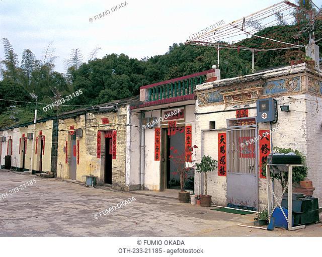 Village Houses in Wu Kau Tang, New Territories, Hong Kong