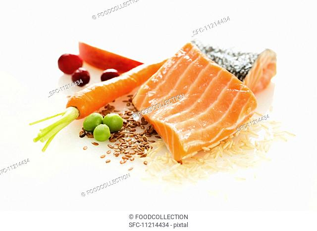 Fresh Salmon with Assorted Ingredients