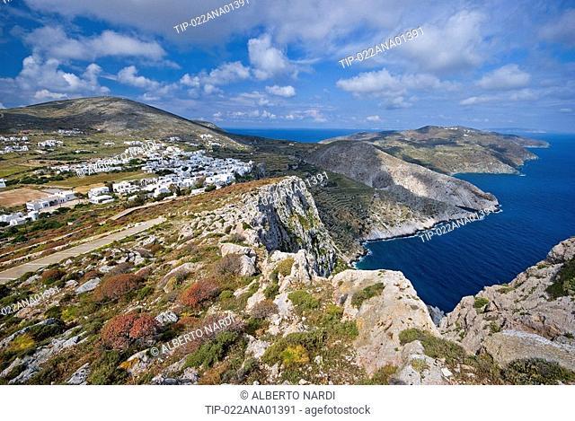 Greece, Cyclades, Folegandros Island, Angel's Bay