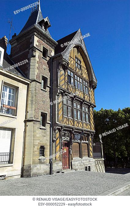 Half-timbered house, called the House of the Pilgrim (Maison du Pèlerin). Amiens. France