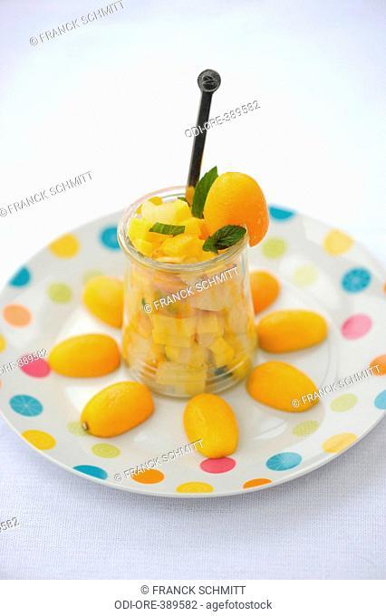 Exotic fruit tartare