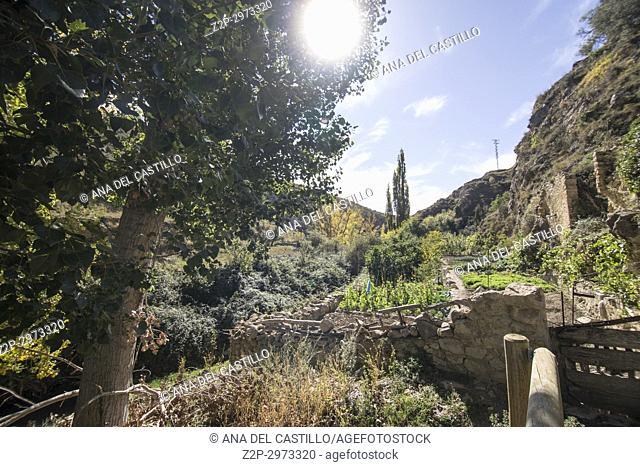 Autumn in Rubielos de Mora village Teruel, Aragon, Spain