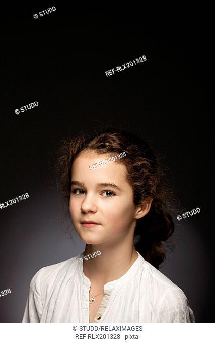 teenager girl pretty beauty red blond portrait