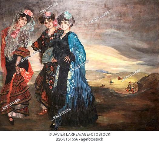 """""""""""""""My Cousins"""""""", 1903, Ignacio Zuloaga, National Museum of Catalan Art, Museu Nacional d Art de Catalunya, MNAC, Barcelona, Spain, Europe"""
