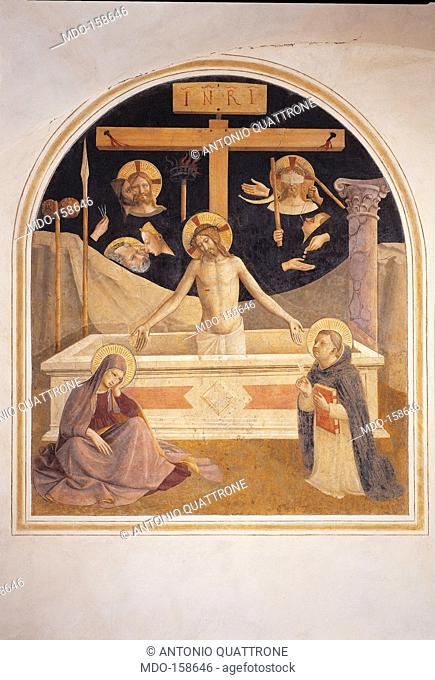 The Mourning over the Dead Christ with the Symbols of His Passione, the Virgin and St Thomas (Vir dolorum), by Guido di Pietro (Piero) known as Beato Angelico