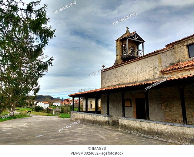 Pre-Romanesque church of Santiago de Gobiendes (9th century), Colunga. Asturias, Spain