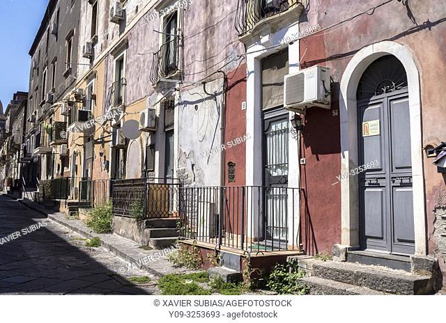 Via Gesuiti, Old Town, Catania, Sicily, Italy
