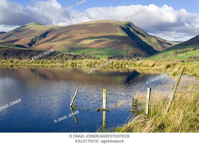 Tewet Tarn and Lonscale Fell beyond in the English Lake District National Park, Cumbria, England