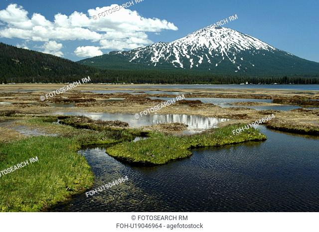 Deschutes National Forest, OR, Oregon, Mount Bachelor, Cascade Lakes National Scenic Byway, Cascade Range, Soda Creek