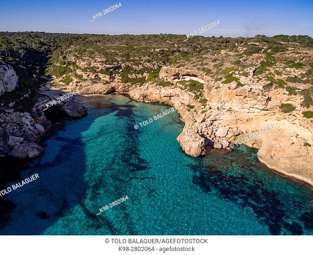 Natural area of special interest (ANEI) ,Cala Marmols, Santanyi, Mallorca, balearic islands, spain, europe