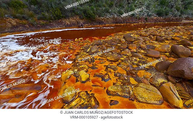 TINTO River, HUELVA, ANDALUCIA, SPAIN, EUROPE