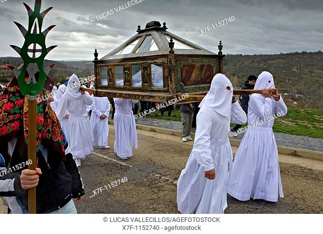 Good Friday procession, Bercianos de Aliste, Province Zamora, Castilla Leon, Spain