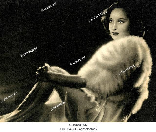 The Italian actress Clara Calamai