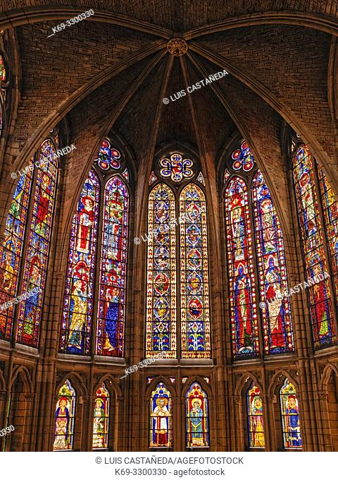 Glassworks. The Cathedral of Santa Maria. Leon. Spain