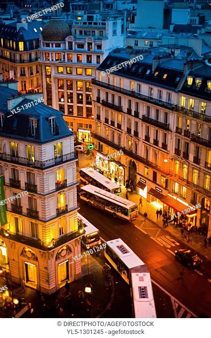 Paris, France, Office Buildings, Outside, Dusk