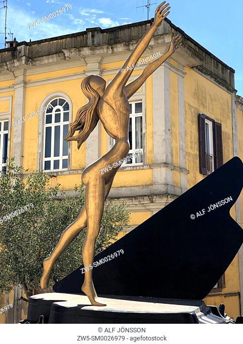 The surrealist piano by Salvador Dali in Matera, Basilicata, Italy